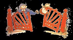 Michel und Ida am Zaun