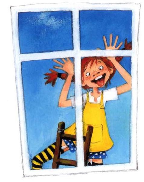 Graphik Pippi spielt verrückt