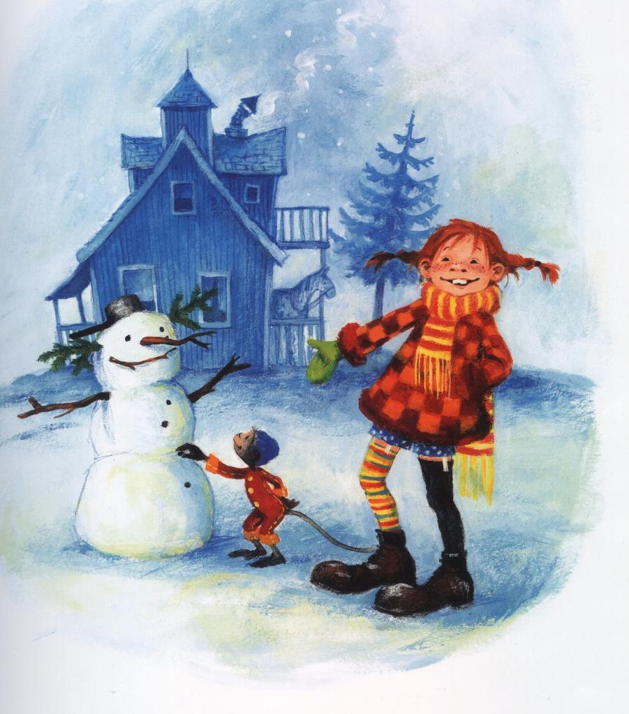 Graphik Pippi Langstrumpf feiert Weihnachten, 14. Winter-Familientheater-Reihe